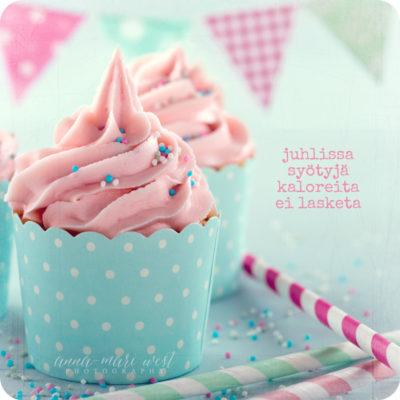 Juhlissa syodyt kalorit cupcake onnittelu juhla West