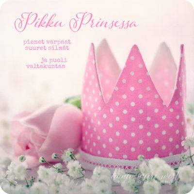 Pikku prinsessa vauvat vaaleanpunainen kortti West
